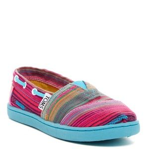 TOMS Biminis Pink Serape Infant Slip on Shoes